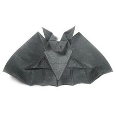 How to make an origami bat for Halloween (http://www.origami-make.org/howto-origami-halloween.php)
