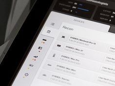Dribbble - Device Dashboard - iPad - UI/UX/iOS by Jason Wu #interface