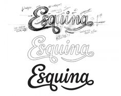 Dribbble - draft-full.jpg by Claire Coullon #esquina #sketch #typography
