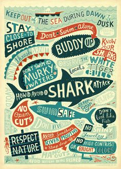 Shark #typography #inspiration #design #creative #hand lettering #artists #art