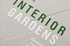 Interior Gardens / Gärten in Häusern – Birkhäuser #design #graphic #book #cover #typography