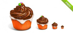 Delicious cupcake icons Free Psd. See more inspiration related to Cake, Icons, Cupcake, Delicious, Horizontal, Stylish and Cupcake icons on Freepik.