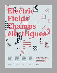 Electric Fields 2012 Simon Guibord #poster #layout #simon guibord