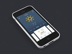 WIP Another Weather App. #weather #design #ui #iphone #app #mobile #ios