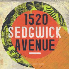 """1520 Sedgwick Avenue"" #typography #design #hiphop #oldschool #retro"