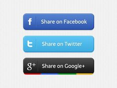 Share buttons #google+ #ui #facebook #twitter #buttons