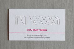 Tommy Paperkut Business Card