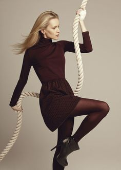 Goldenpoint F/W tights on Behance #fashion #model #rope