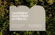 Madeleine Blanchfield Architects Projects A Friend Of Mine #branding