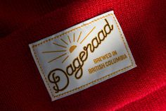 Hand-lettered toque label for Dageraad Brewing