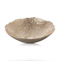 Bowl Ritz Glass Gold 30cm x 8cm