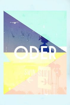 ODER SURFEN on Behance #print #triangle #minimal #poster