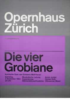 Josef Müller-Brockmann DIE VIER GROBIANE [ 128CM X 90CM ] via www.blanka.co.uk