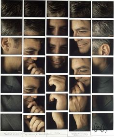 Polaroid Mosaics of Celebrities by Maurizio Galimberti #celebrities #photography #mosaics #polaroid