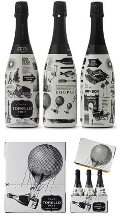 BRUT SPECIAL EDITION « #design #wine #black #illustration #bottles #enric #aguilera #cava