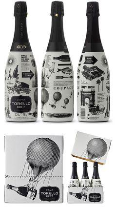 BRUT SPECIAL EDITION « #design #wine #black #illustration #bottles #enric #aguilera #cava
