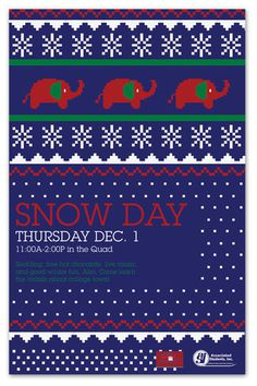CSUF's Snow Day on Behance #christmas #invite #sweater