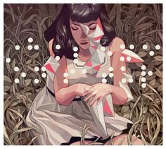 Works II on the Behance Network #illustration #floral #girl