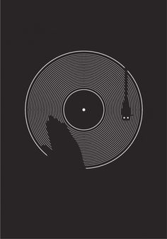 MINIMALSONIC #music #turntable #poster #blackwhite