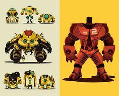Illustrated robots