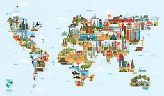 Fernando Volken Togni tiphaine illustration #illustration #minimal #map