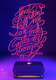 Harder Better Faster Stronger on Behance #type #3d
