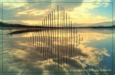 Land art instalation by Gerry Barry #land #landscape #photography #art #eco #tone #beach