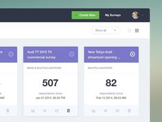 Survey dashboard [wip] #ui