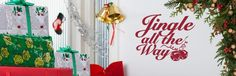 A cute Christmas wall decal. A fun way to decorate from http://cozywallart.com #artwork #temporary #holiday #decal
