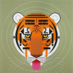 Tiger - Charley Harper #charley #illustration #tiger #harper