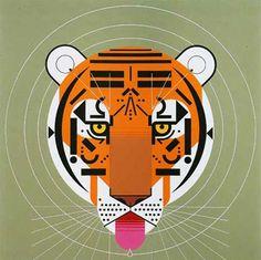 Tiger - Charley Harper