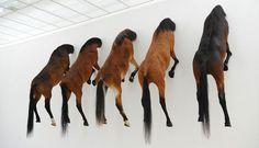 maurizio cattelan's 5 horses at fondation beyeler #horse