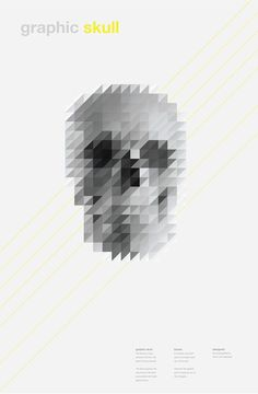 0068d243985452799d2d28742cf9d8c0.png (548×836) #pixel #skull #poster