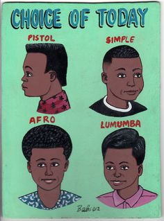 Indigo Arts Gallery | African Barber Signs | Burkina Faso