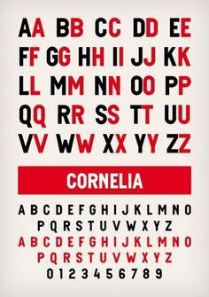 Novo Typo - Cornelia - Type specimen #novo #design #typeface #typo #typography