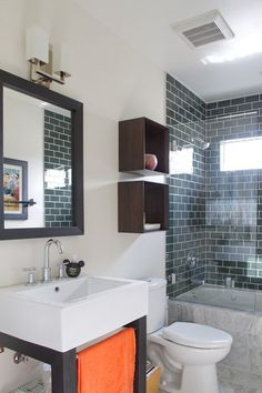 Modern Bathroom Made of Right Angles #simple #mod