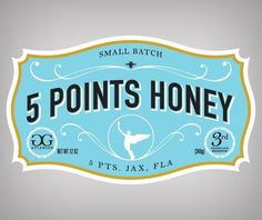 5 Points Honey on the Behance Network #logo #branding #typography