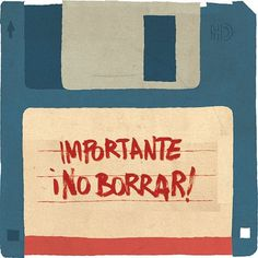 All sizes | Recuerdos. | Flickr - Photo Sharing! #computer #colourful #important #floppy #illustration #disk