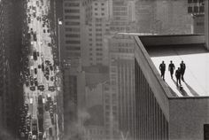 René Burri: Sao Paulo, Brazil, 1960. #city #leica #photography #roof #brazil #1960