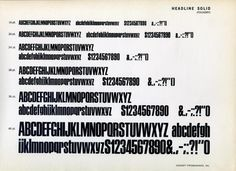 Headline Solid type specimen #type #specimen #typography