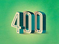 400_followers #400 #type #design