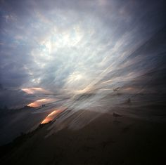 pinhole sunset by Novemberkind #pinhole #clouds #analogue #analog #exposure #photography #film #long #sunset