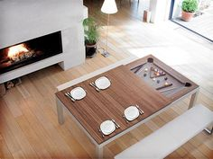 Fusion Table dining table and pool table - www.homeworlddesign.com #pool #table #dinning