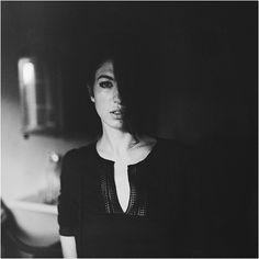 Glamor Photography by Tom Lacki #white #girl #photo #black #and