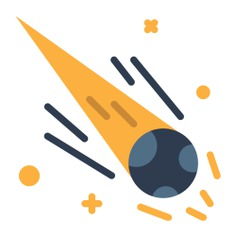 See more icon inspiration related to comet, meteor, Asteroid, space, miscellaneous, astronomy, education and nature on Flaticon.