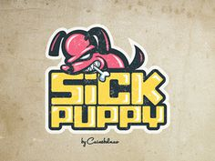 Sickpuppy #branding #texture #illustration #puppy #sick #logo