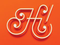 Hi! Lettering by Logan Brazeau #Lettering #Typography #Design #GraphicDesign