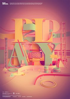 Typography 04. on the Behance Network #type #3d