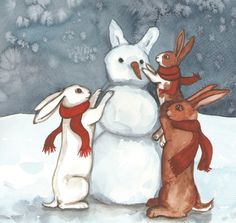 Building a snow bunny #snow #building #bunny #a