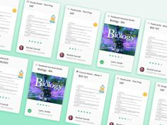 Studysoup Material Cards #design #flat #ui #webdesign #cards #study #college #student #studysoup